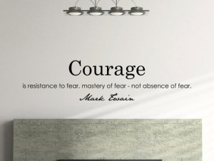 Mark Twain Motivational Business Quote Wall Decal