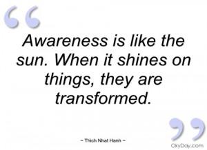 awareness is like the sun