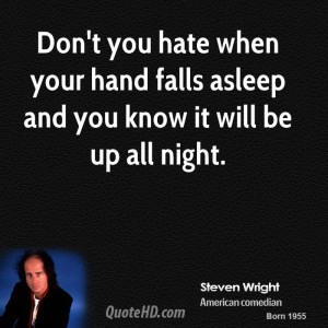 steven-wright-steven-wright-dont-you-hate-when-your-hand-falls-asleep ...