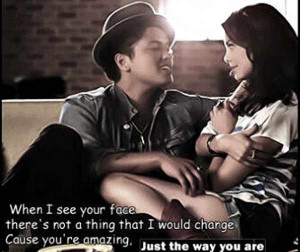 Love Quotes – A song from Bruno Mars that has so romantic feeling. U ...