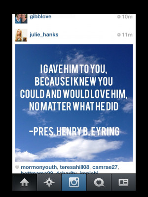 Real Talk Quotes Instagram Elder eyring's talk was