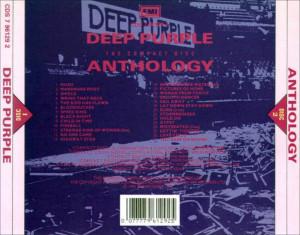 musica caratula de deep purple anthology del 1991 delantera