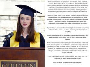 Rory's Chilton Graduation Speech