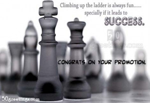 Congratz on your promotion