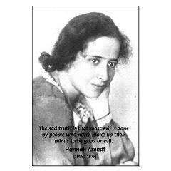 Philosopher: Hannah Arendt Posters