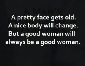 good woman will always be a good woman