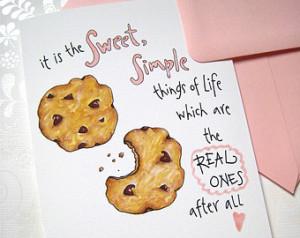 Cookie Birthday Card - Chocolate Ch ip Birthday Card - Sweet Simple ...