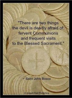 ... of making a fervent Communion and of Eucharistic adoration cathol