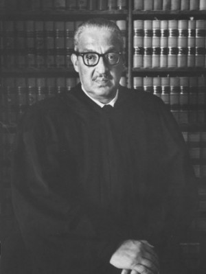 Portrait of US Supreme Court Justice Thurgood Marshall in His Chambers ...
