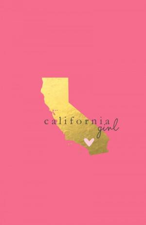California Girl Art Print.. California girl at heart & forever.. No ...