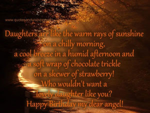 Daughter birthday quotes, best, sayings, wish, dear angel