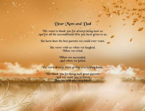 Dear Mom and Dad in Heaven Poem