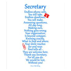 school secretary quotes Secretary Thank You Wal...