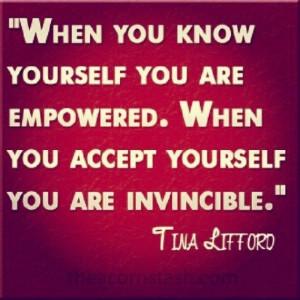 Invincibility Comes with Acceptance