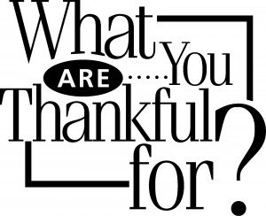 ... enough for now. It's your turn to tell me what you are thankful for