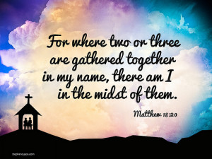 Church Bible verse, Christian illustration