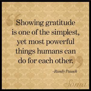 show gratitude gratitude is a simple bu by randy pausch