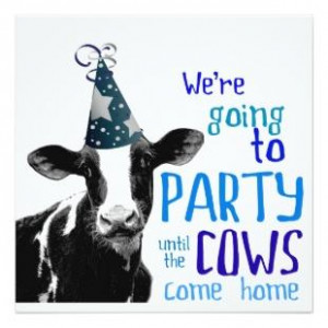 Funny Cow Bachelor Or Bachelorette Party
