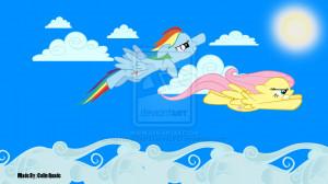 Rainbow Dash Fluttershy Sky