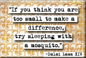 Dalai Lama Make a Difference Quote