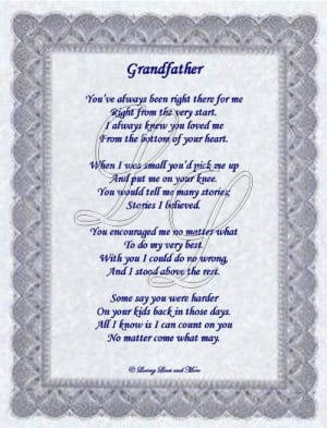 grandfather poems