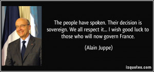 More Alain Juppe Quotes