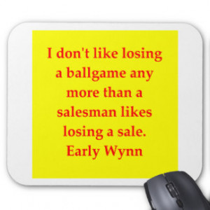 early wynn quote mouse pad