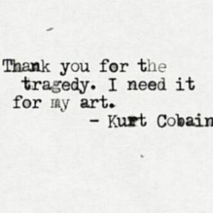 Thanks Dad and Mum. Thanks. Kurt Cobain-