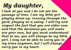YOUR MY WHOLE WORLD. I LOVE YU MY DAUGHTER ALWAYS AND FOREVER. LOVE ...