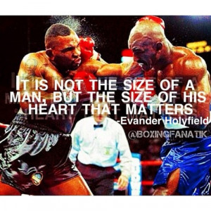 motivational #boxing quote of the day: Evander Holyfield.