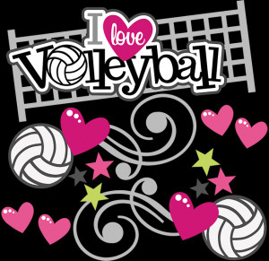 Love Volleyball SVG scrapbook file volleyball svg files volleyball ...