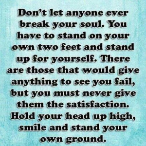 Hold your head high!