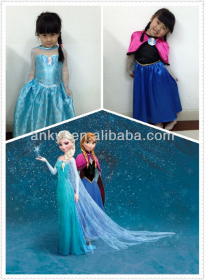 frozen Elsa funny costumes carnival for kids Frozen Party Supplies In ...