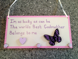 best godmother plaque decorations vary