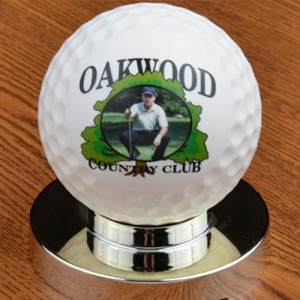 Personalized Trophy Golf Ball - Full Size Golf Ball Award