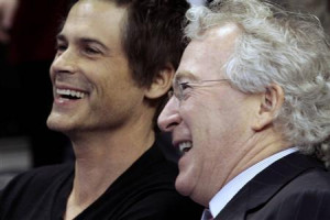 Chesapeake Energy Corp. CEO Aubrey McClendon (R) and actor Rob Lowe (L ...