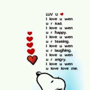 Snoopy love quote