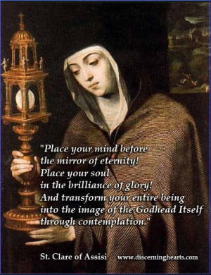 St. Clare Quote