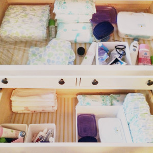 And another drawer to hold a few of baby girl's things until we get ...