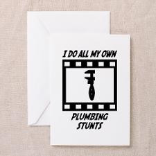 Plumbing Stunts Greeting Cards (Pk of 20) for