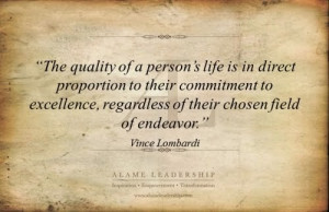 personal excellence quotes with emage