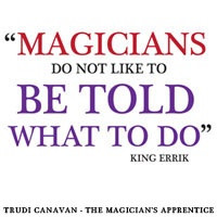 Bookmark design for Trudi Canavan's book, The Magician's Apprentice