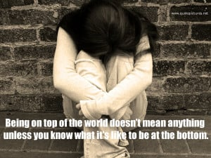 Being on top of the world doesn't mean anything
