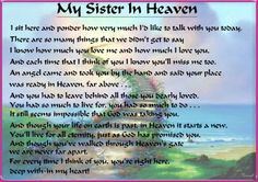 missing my sister in heaven latest blog entries more sisters pamela ...
