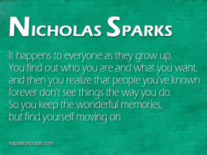 Nicholas Sparks Moving On Quotes