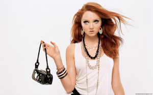 Lily Cole Cute English Model Actress Handbag And Jewelleries