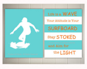 ... surfer, baby boy nursery art, inspirational surf quotes, nautical art