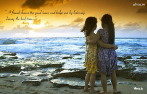 Two Girls Friendship Natural HD Wallpaper With Friendship Quote For ...