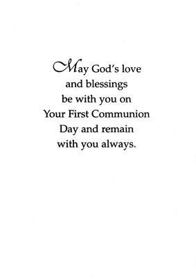 First Communion Thank You Prayer Card
