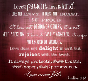 love is patient.jpg Bible Quotes About Family